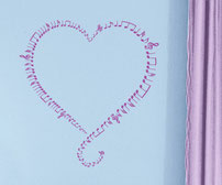 Notes on Heart vinyl decal