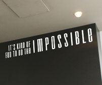 It's kind of fun to do the impossible vinyl wall art