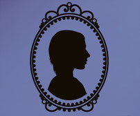 Bespoke Cameo Customise with your own portrait vinyl wall art sticker