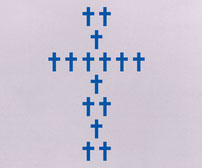 Chunky Crosses, vinyl stickers