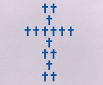 Chunky Crosses, vinyl stickers