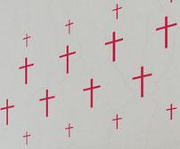Skinny Crosses, vinyl decals