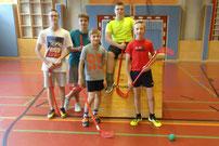 Siegermannschaft - Badmintongruppe