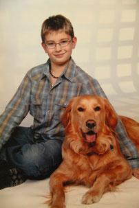 Unser Rocky mit unserem jüngsten Sohn