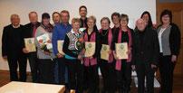 Die geehrten Mitglieder der Pfarrei
