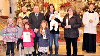 Die Familie Althammer brachte ihre Tochter Laura zur Taufe.