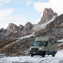Mit dem Wohnmobil durch die Alpen Österreichs, Sloweniens, Italiens und der Schweiz