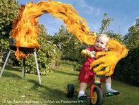 Grillen ohne Brandbeschleuniger! (Bild: www.paulinchen.de)