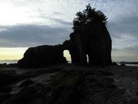 本山岬 くぐり岩 の写真