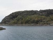 中浦漁港 右側の地磯の写真