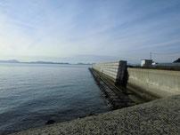 大浜岸壁 岸壁の写真