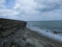 椎田干拓地海岸 海岸の写真