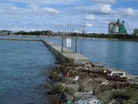 荒田港 立入禁止の波止の写真