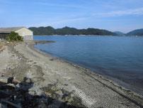 白潟漁港 砂浜の写真