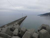 富海海岸 大波止 先端側 の写真