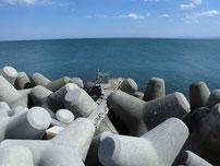 苅田南防波堤 釣り座の写真