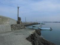 松江漁港 外波止・内側の写真