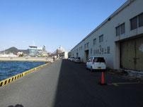 門司西海岸 倉庫前の写真