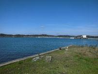高泊漁港 上流側の護岸 の写真