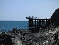 大積海岸 桟橋 の写真