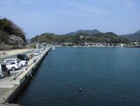萩港 港内の写真