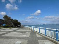 日明海峡釣り公園 護岸 の写真