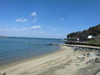 蓑島漁港 砂浜の写真