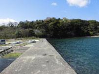 香川津の波止 護岸の写真