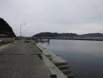 小田漁港 漁港内の写真