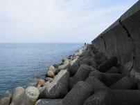 宇島港 埠頭先端・テトラポットの写真