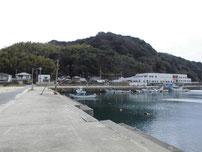 西浦漁港 漁港内の写真