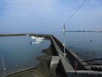 松江漁港 内波止の写真