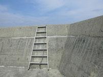 宇島漁港 外波止 梯子の写真