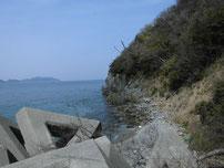 三見漁港 大波止 右側の写真