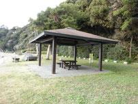 関見台公園下海岸 パーゴラ の写真