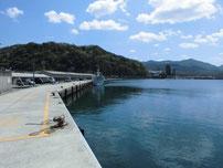 越ケ浜漁港 港内の写真