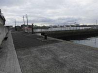 真締川河口 立入禁止箇所の写真