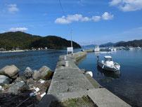 青海島大橋下周辺 本州側 立入禁止の波止の写真