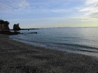 本山岬 砂浜の写真