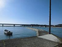 厚狭川橋・下流の港 の写真