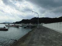 柄杓田漁港 港内の写真