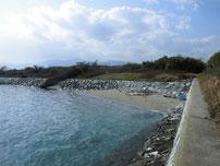 井ノ浦 導流提 右側の護岸 の写真