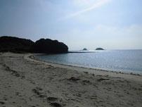 赤田海水浴場 左側の岩場