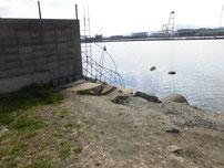 若松運河 貯木場 手前 の写真