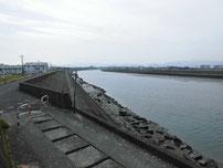今川河口 今川大橋 上流・右岸側の写真