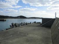 岩屋漁港 外波止先端付近 の写真