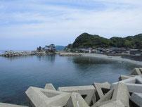 宇田港 外波止付け根付近の写真