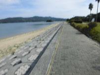 いがみ海浜公園 砂浜の写真