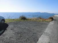 津布田海岸 駐車場所の写真
