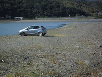 大積海岸 駐車場所 の写真